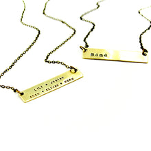 Personalized Necklace - Horizontal Bar