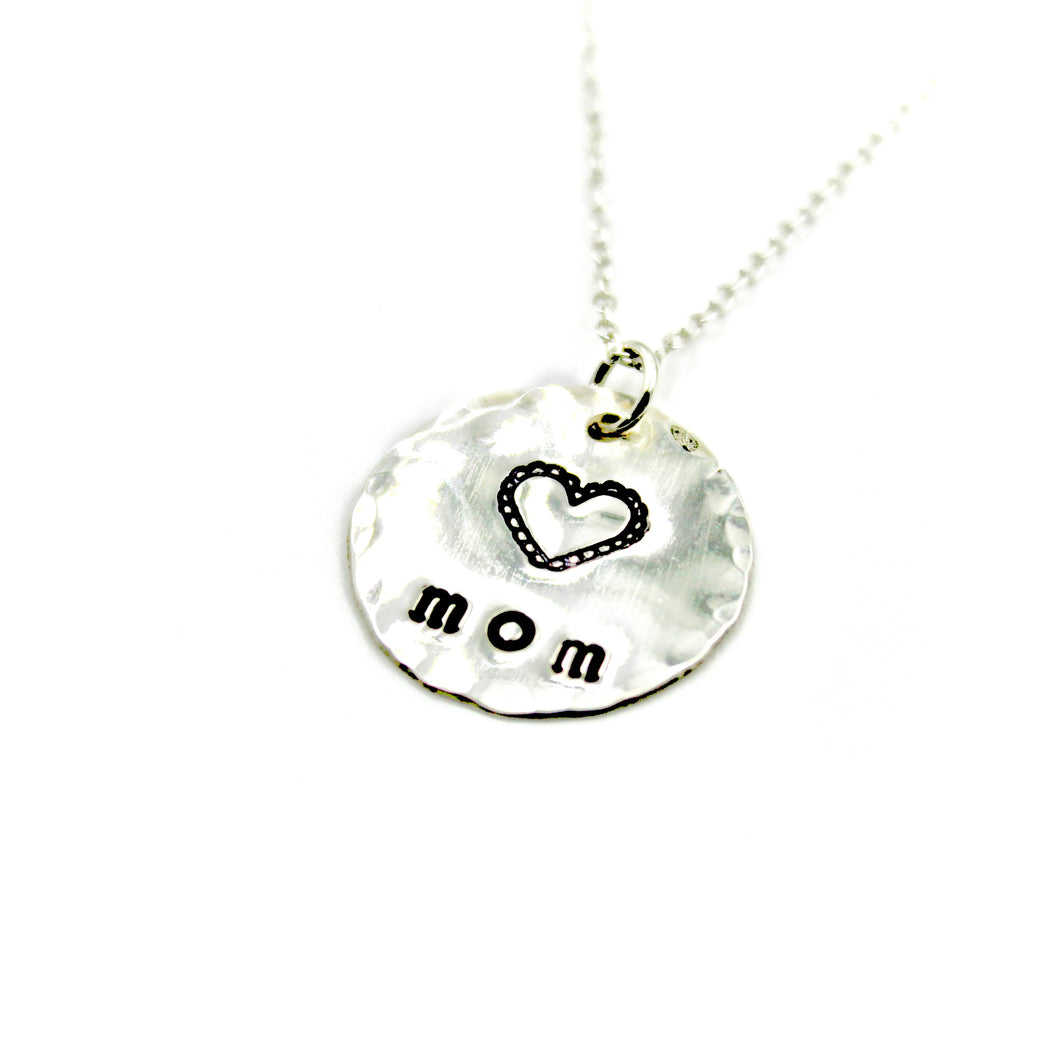 Mom Lace Heart Necklace