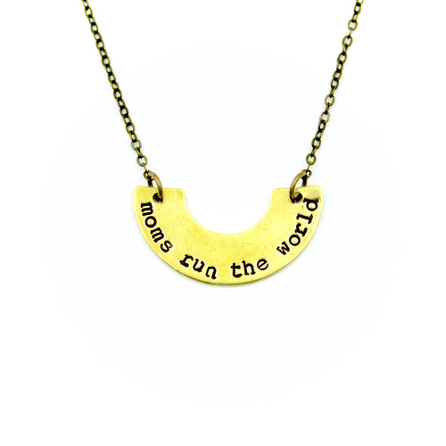 Moms Run The World Necklace
