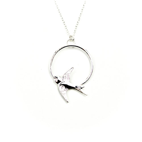 Sparrow Circle Necklace