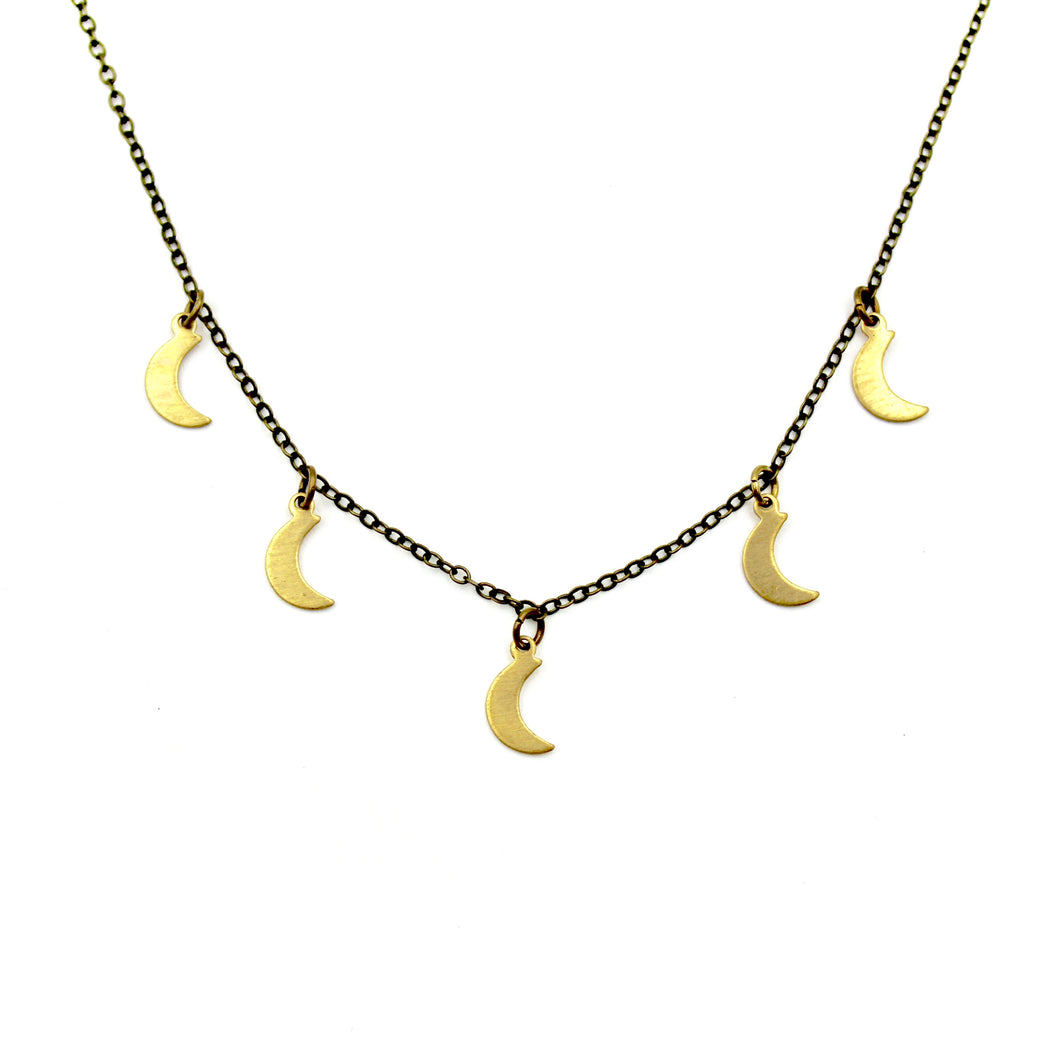 Sprinkle Necklace - Brass Moon
