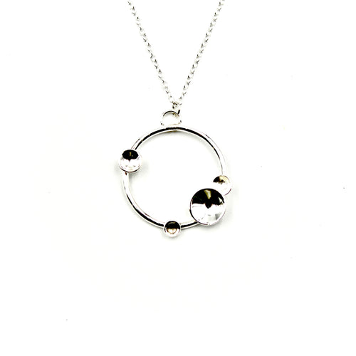 Domed Pieces Circle Necklace