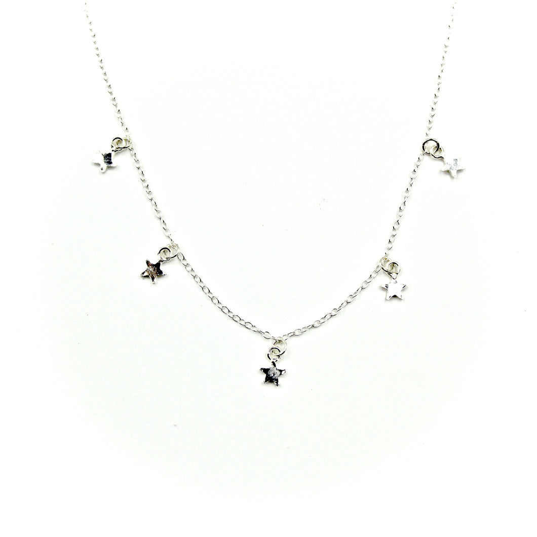 Sprinkle Necklace - Sterling Silver Star