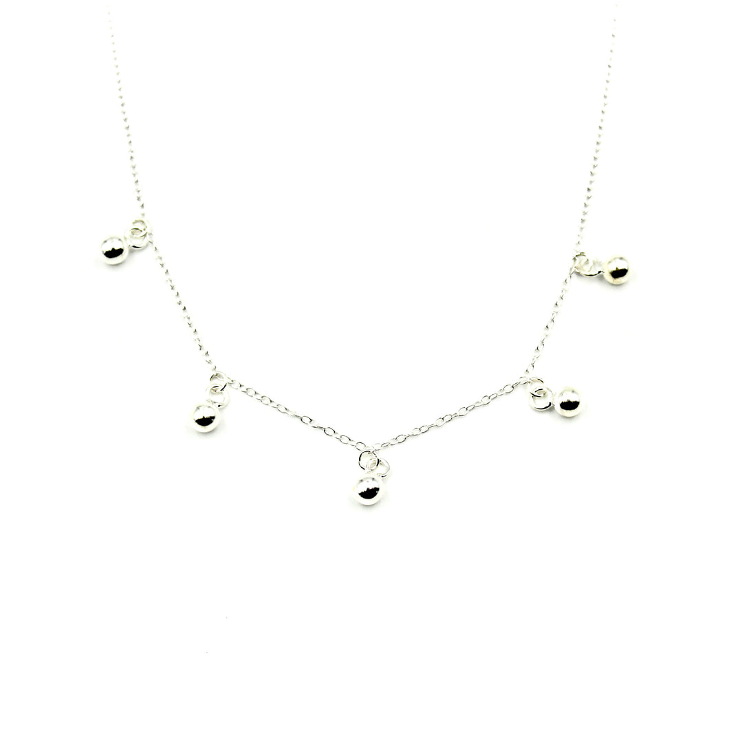 Sprinkle Necklace - Sterling Silver Dot