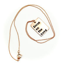 Focus One The Good Rectangle Rose Gold-Filled Necklace