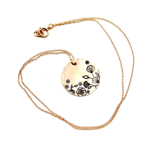 Rose Gold-Filled Garden Necklace
