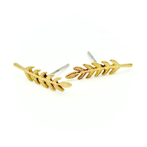 Branch Earrings - Brass