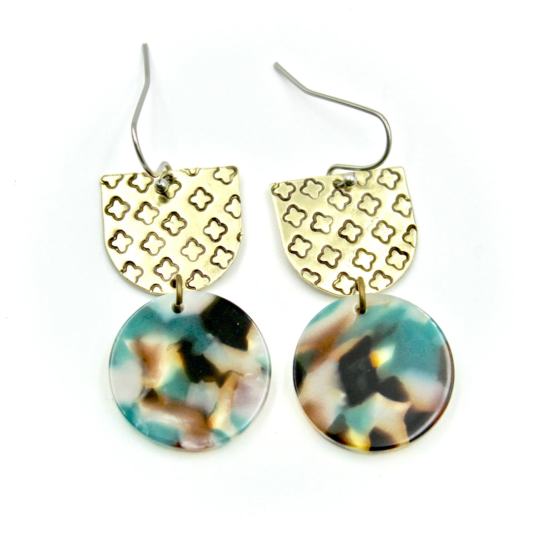 Clover & Teal Mix Earrings