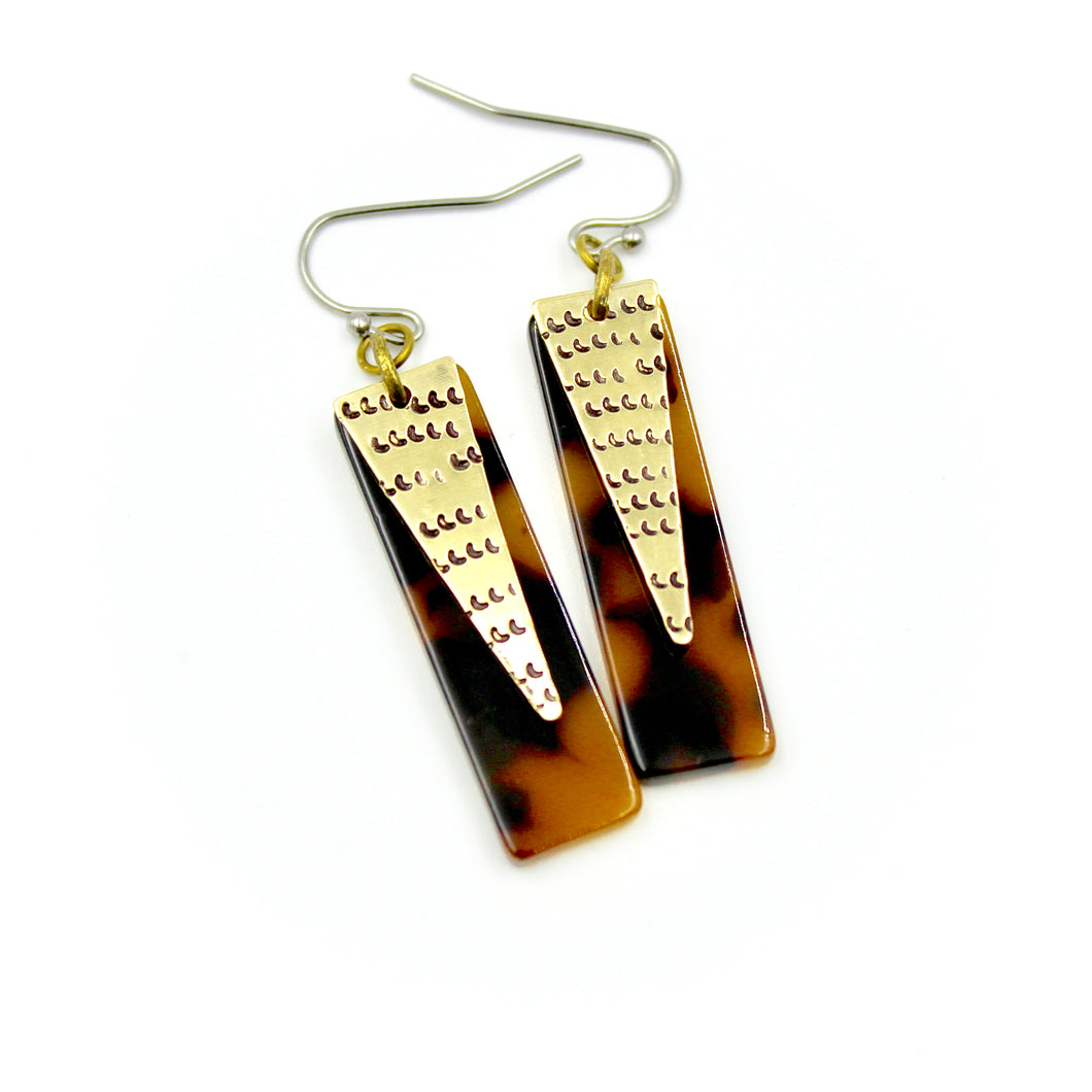 Leopard Triangle Earrings