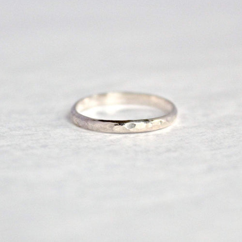 Dimple Hammered Ring Band