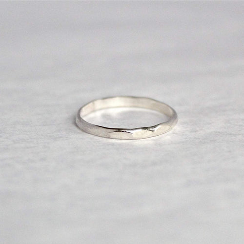 Flat Hammered Ring Band