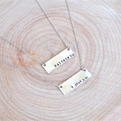 Bible Verse Bar Necklace