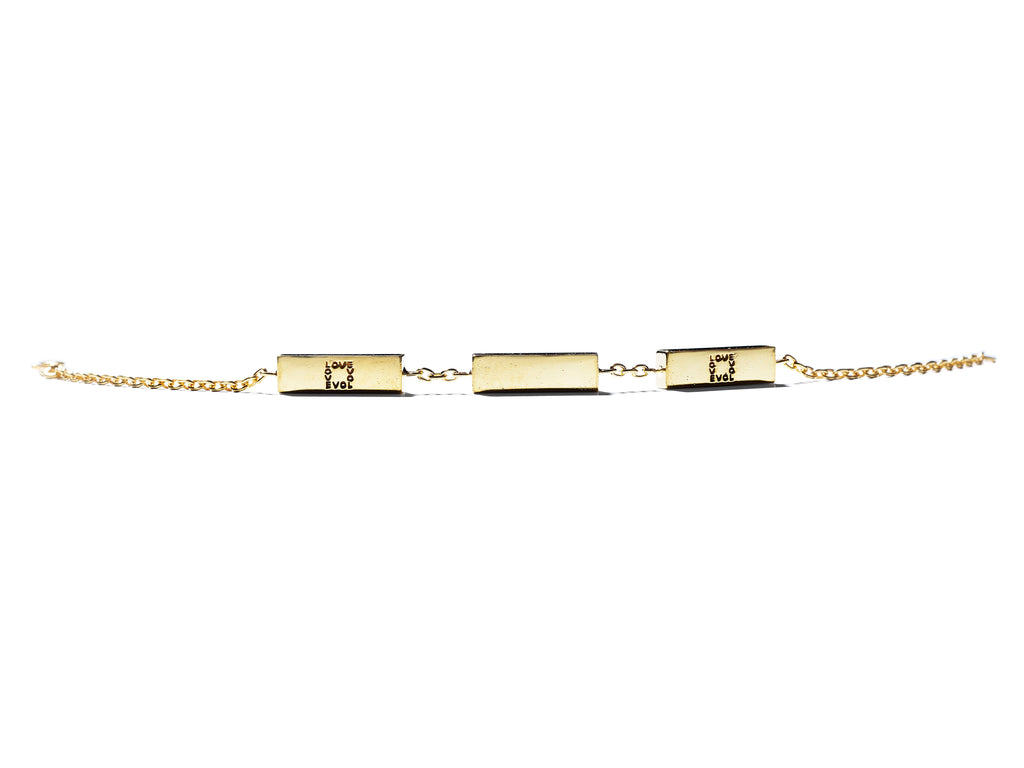 KSR 3Love Solid 18k Gold Bars Bracelet