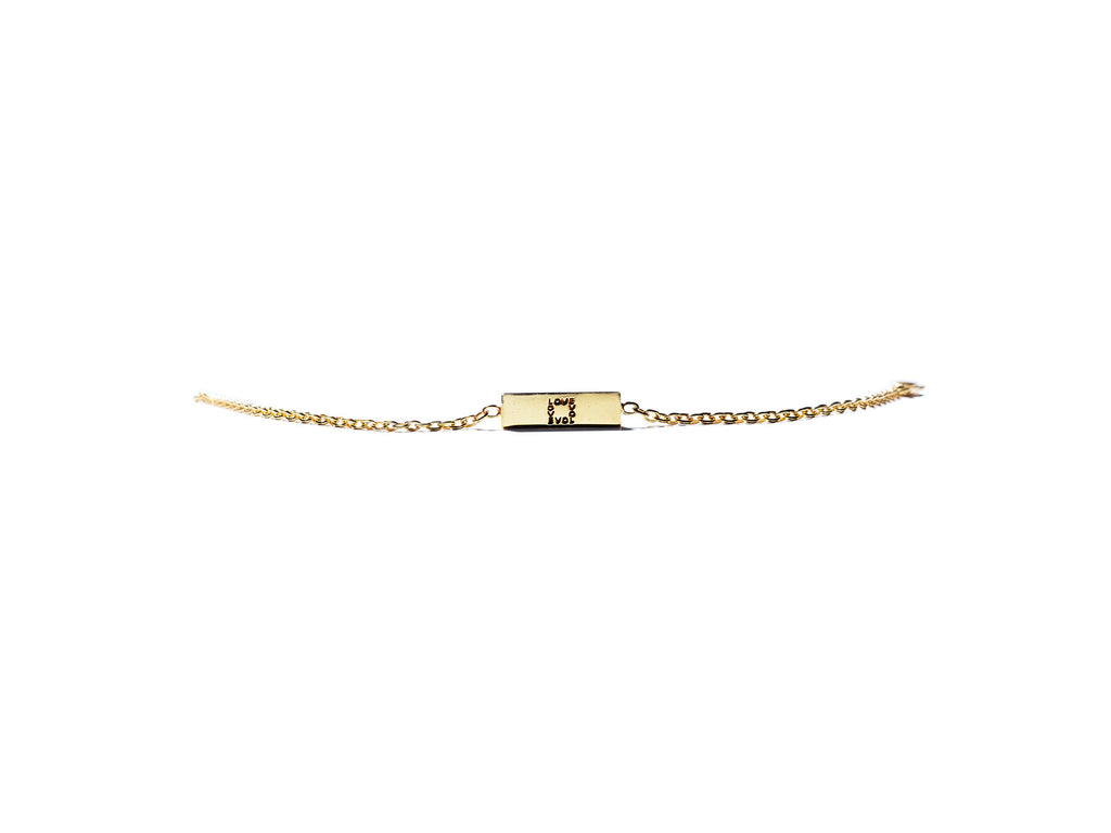KSR 1Love Solid 18k Gold Bar Bracelet