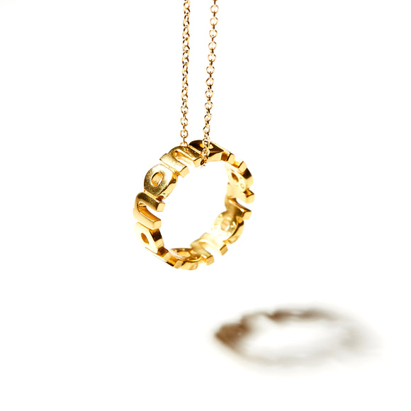 KSR Solid 18k Yellow Gold Defining Words