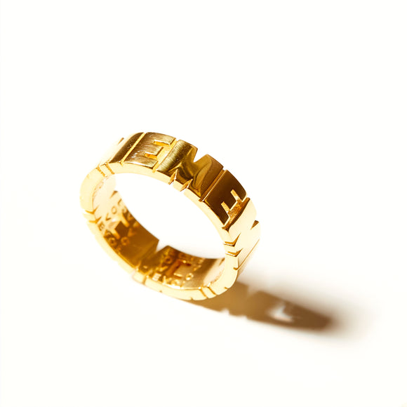 KSR Solid 18k Gold Defining Words