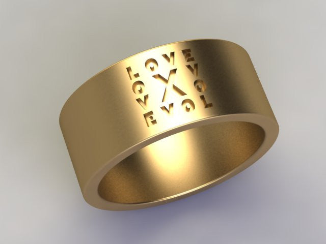 KSR Solid 18k Gold Love Letter Ring