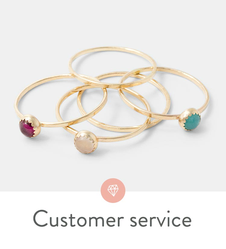 Customer service for our online US jewelry shop