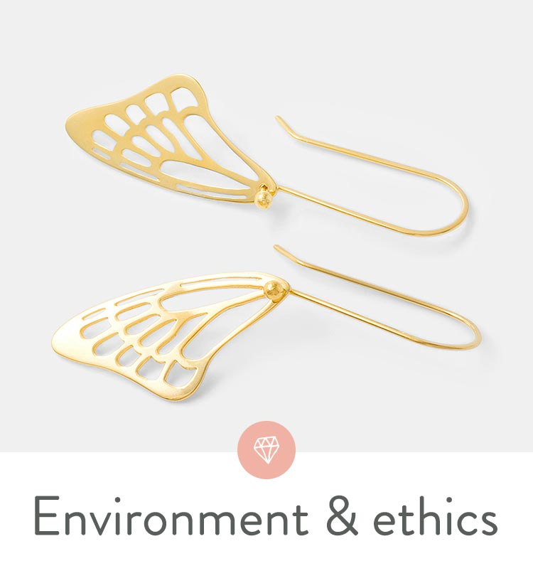 Shop online for eco-friendly and ethical designer jewelry.