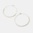 Beaded hoop earrings: silver