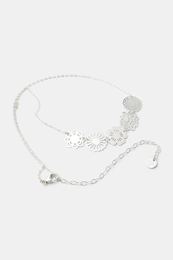 Bouquet necklace: handmade sterling silver jewellery by Australian jeweller Simone Walsh.