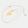 Unique gifts for women: butterfly wing gold pendant necklace in our handmade designer jewelry store online.