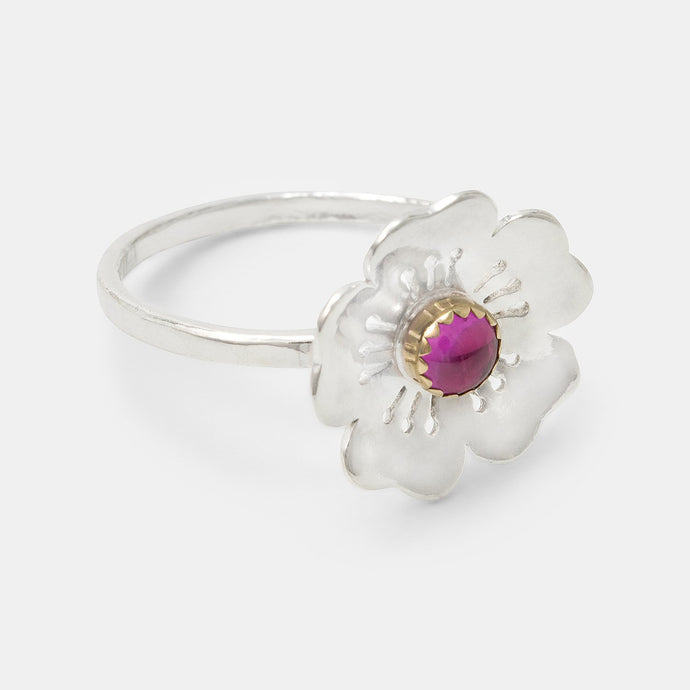 Cherry blossom & pink sapphire ring