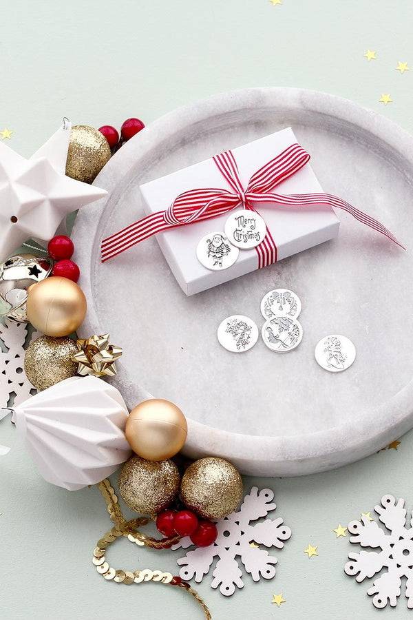 Unique Christmas gift idea: handmade sterling silver Christmas pudding coins with easy recipes. Created by Australian jewellery designer Simone Walsh.