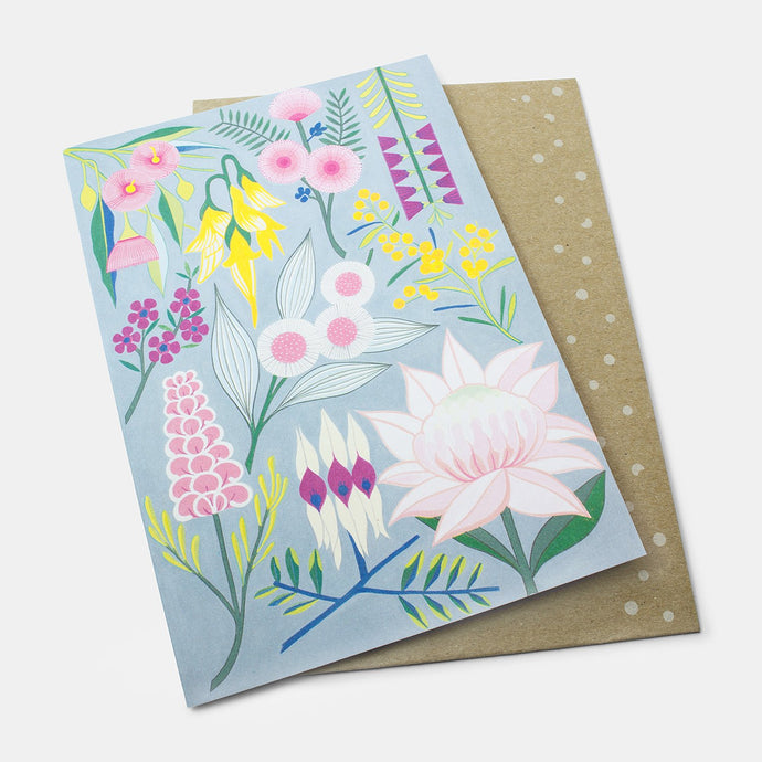 Greeting card: rich & rare flowers
