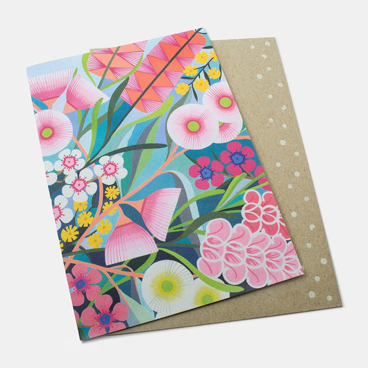 Greeting card: native flowers medley