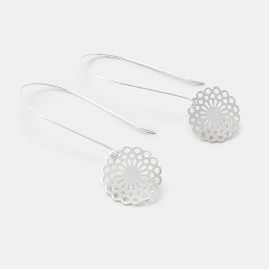 Dahlia dangle earrings