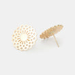 Dahlia stud earrings: solid gold