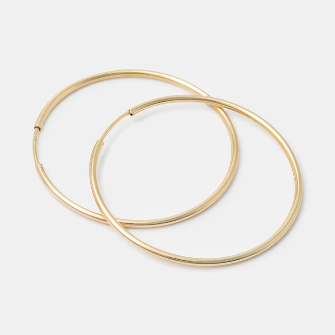 Endless hoop earrings: gold