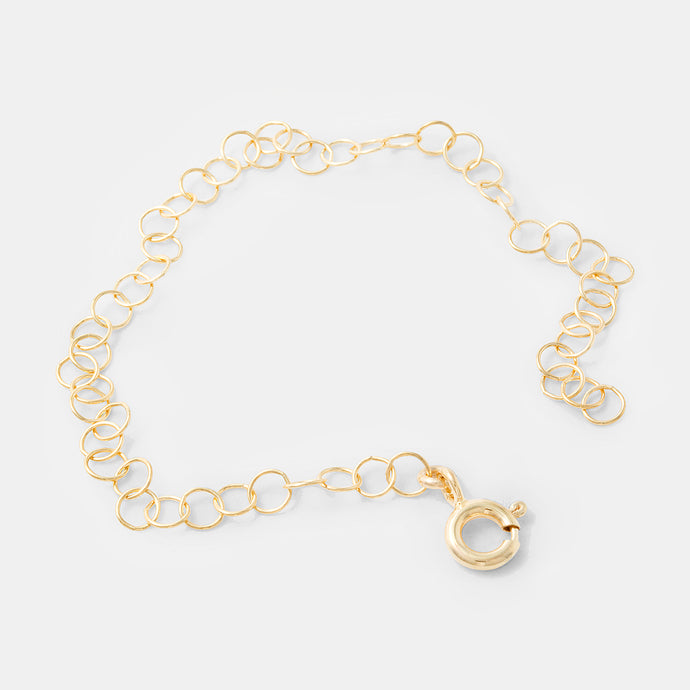 Gold chain necklace extender in our online handmade jewelry store.