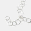 Unique handmade sterling silver chain necklace by handcrafted jewelry designer Simone Walsh.