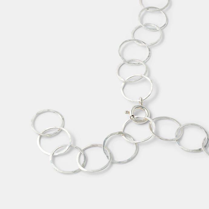 Handmade silver chain necklace