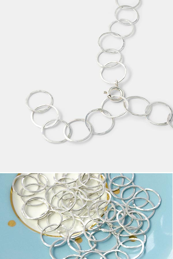 Beautiful contemporary jewelry: simple silver chain necklace in a unique design. Handmade silver jewelry you'll treasure.