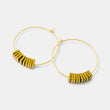 Golden hematine hoop earrings