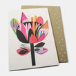 Greeting card: waratah flower