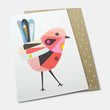 Greeting card: red fairy wren by Inaluxe