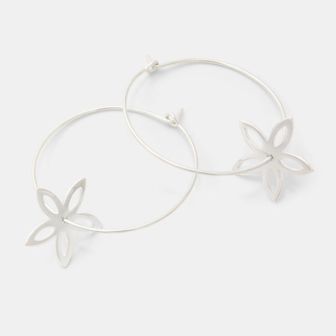 Jasmine hoop earrings