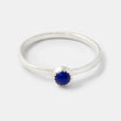 Lapis lazuli gemstone and sterling silver stacking ring handcrafted by handmade jewelry designer Simone Walsh.