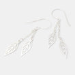 Leaf chain dangle earrings