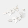 Leaves dangle stud earrings