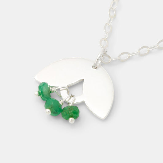 Leaves & emeralds necklace