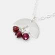 Leaves & rose garnets necklace