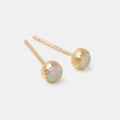 Opal & solid gold stud earrings