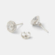 Rose earrings: silver