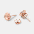 Unique handmade designer jewelry: rose stud earrings in rose gold vermeil in our handmade jewelry store.