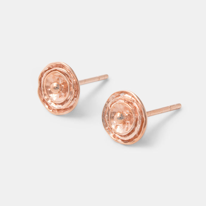Rose earrings: rose gold